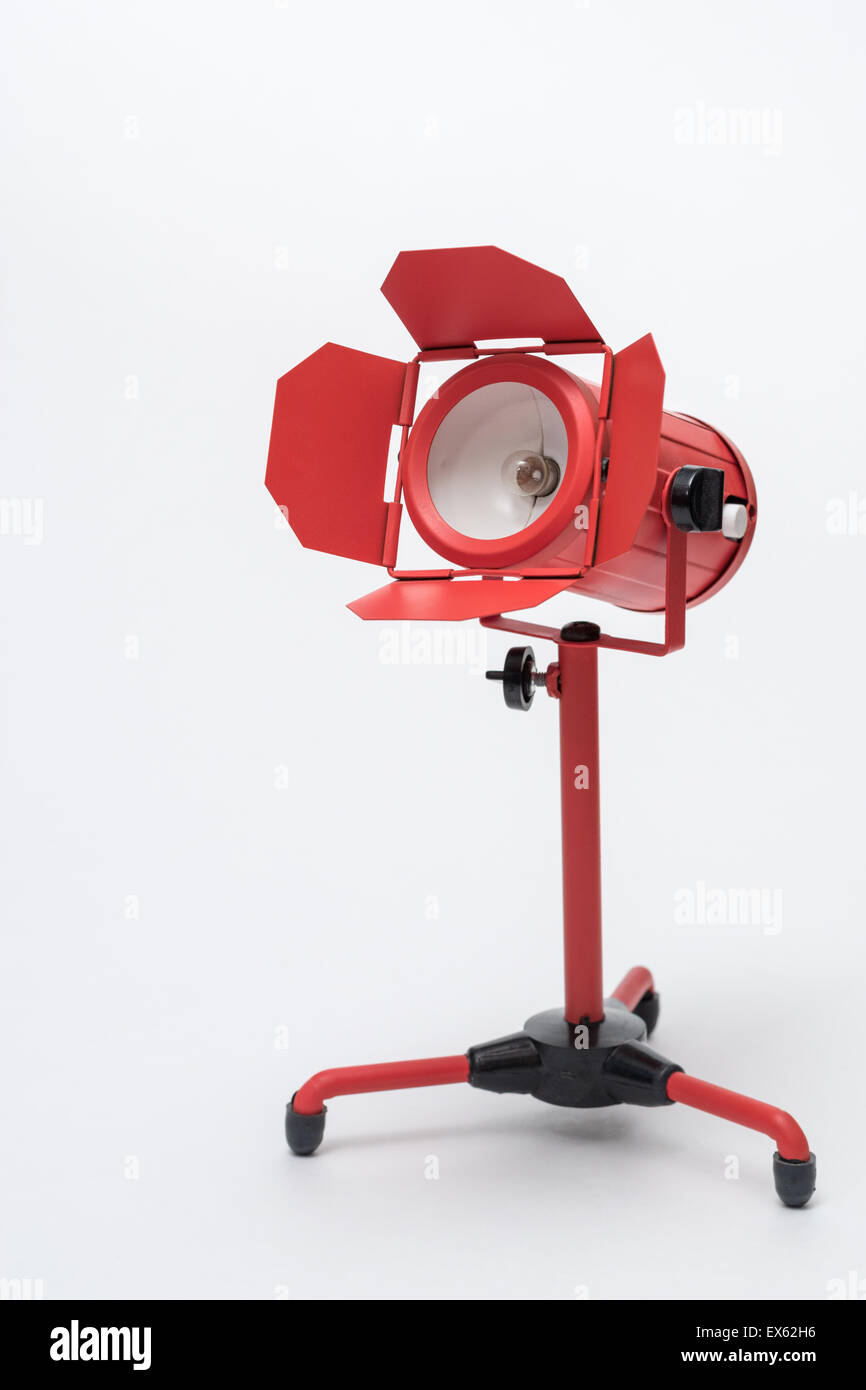 Toy Photography Red Floodlight - Stock Image