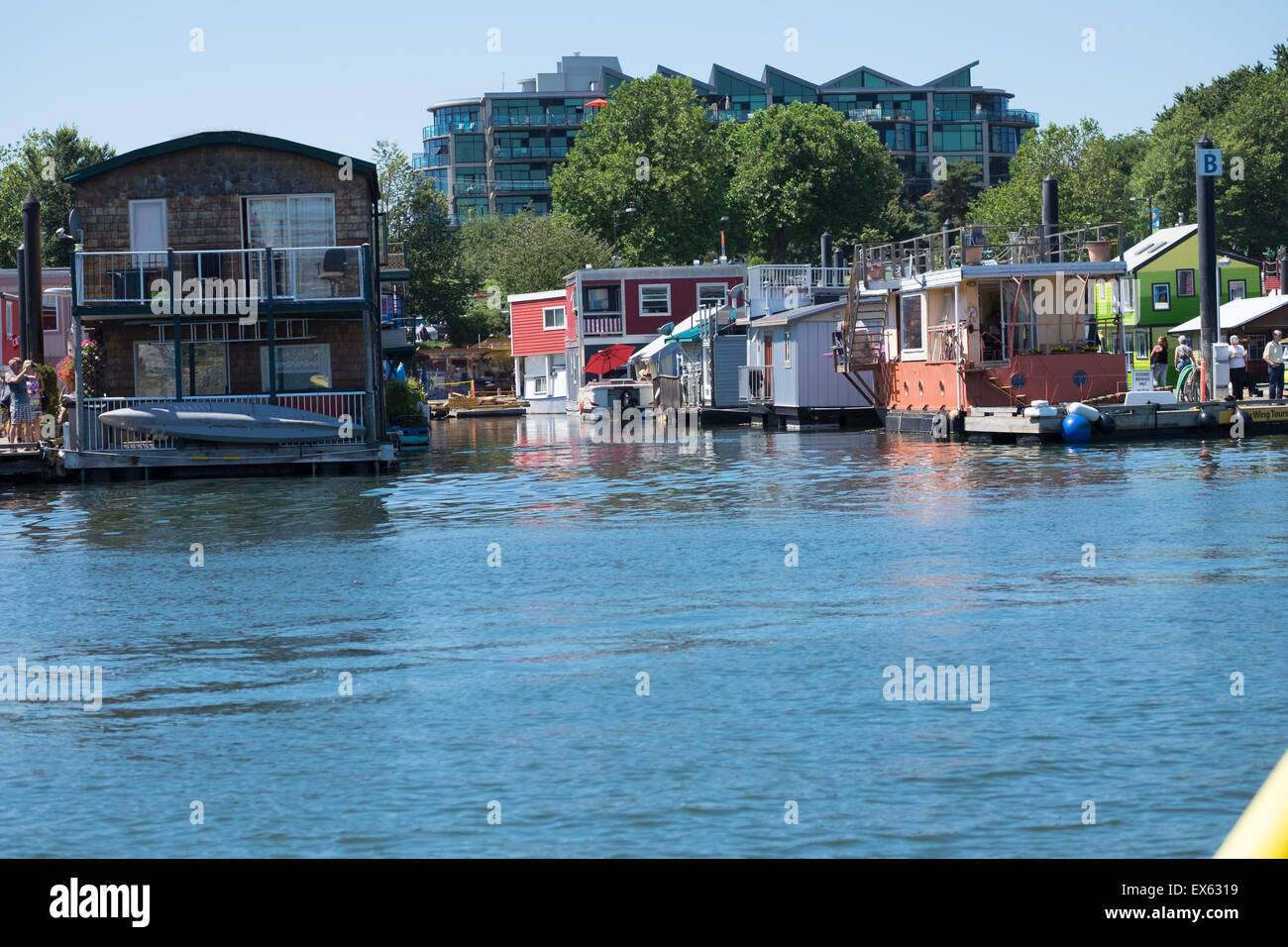 Boathouses in Victoria BC - Stock Image