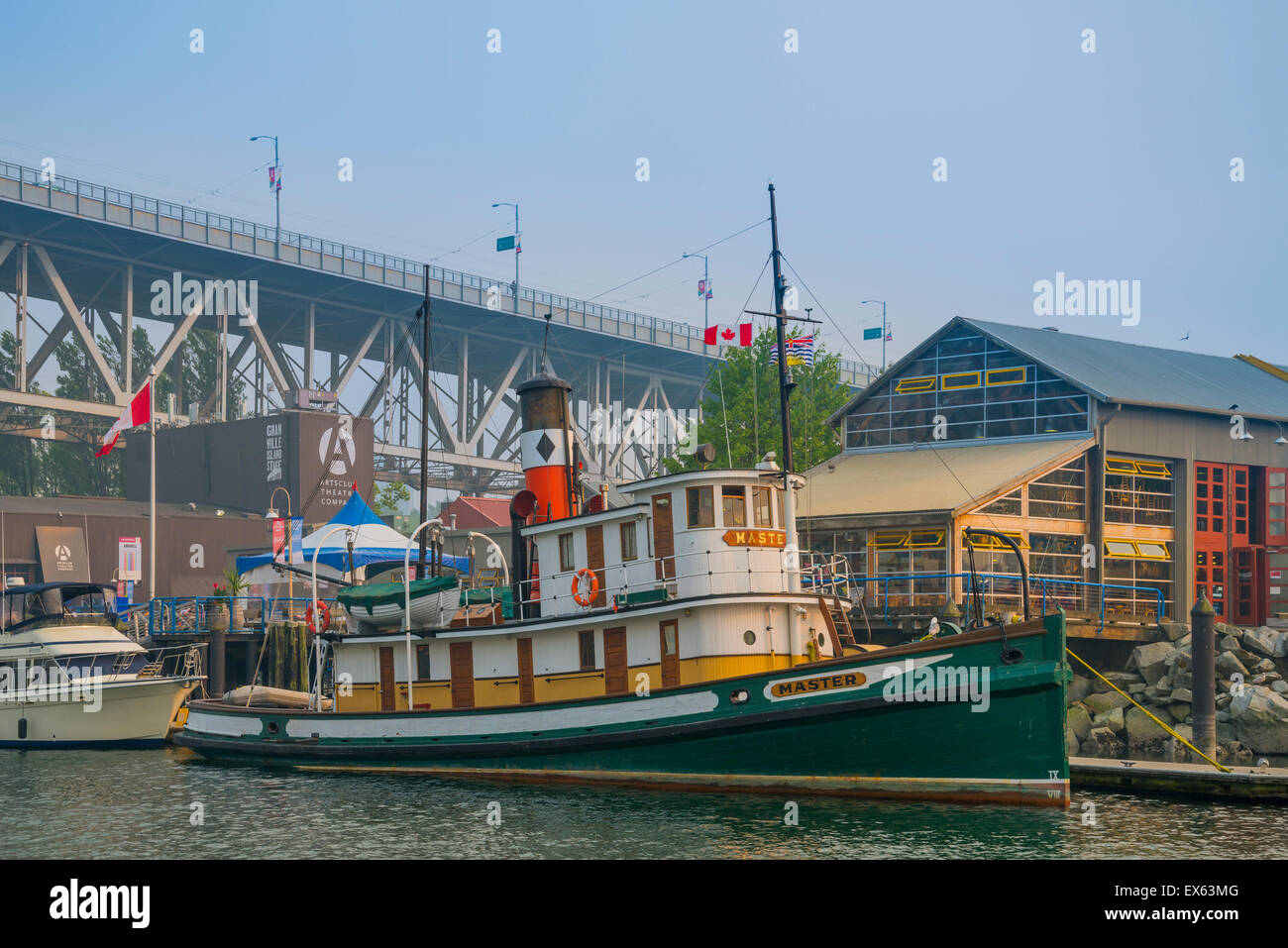 S.S. Master, only surviving west coast steam powered tug, docked at Granville Island, False Creek, Vancouver, British - Stock Image