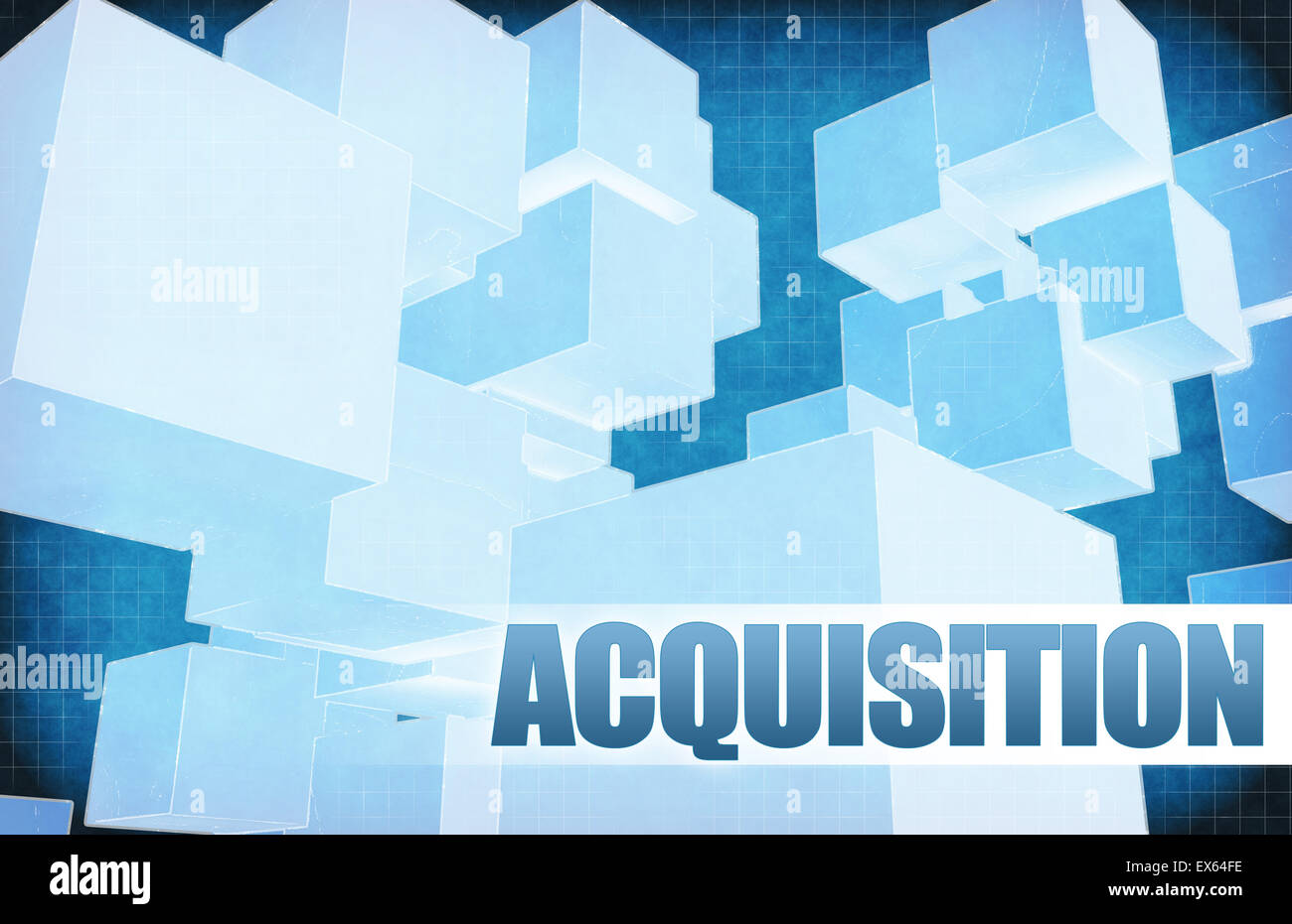 Acquisition on Futuristic Abstract for Presentation Slide - Stock Image