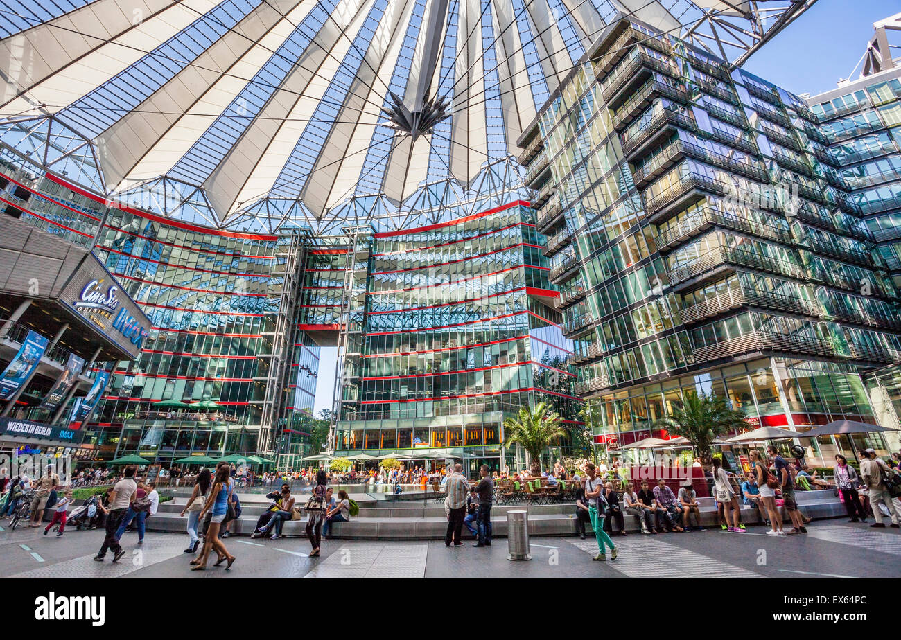 germany berlin potsdamer platz view of the central forum of the stock photo 84958004 alamy. Black Bedroom Furniture Sets. Home Design Ideas