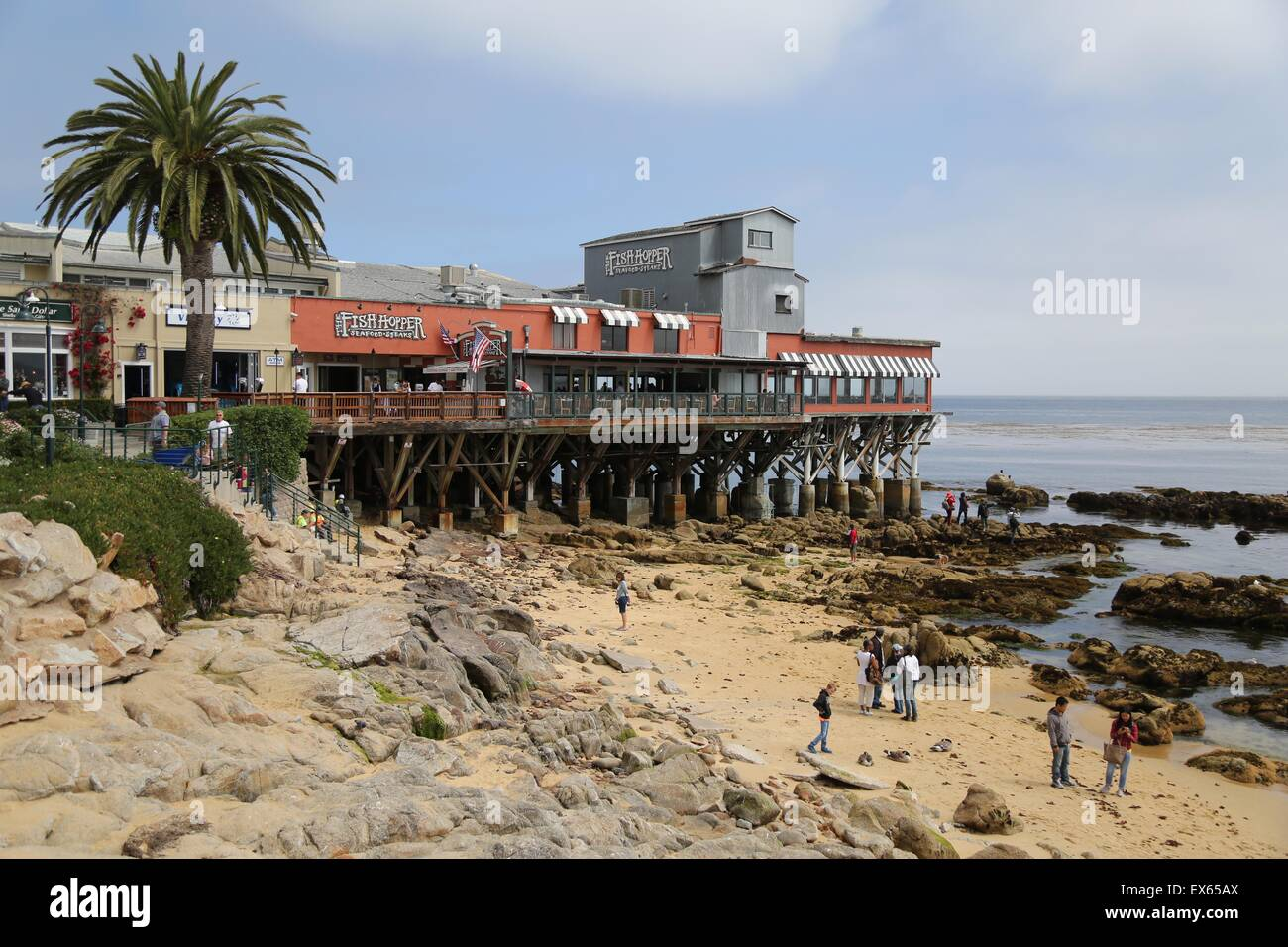 Beach Side Cafes Restaurants And Shops Off Cannery Row In