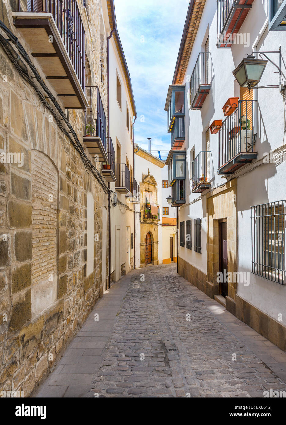 Side Street in Ubeda, Jaen Province, Andalusia, Spain - Stock Image