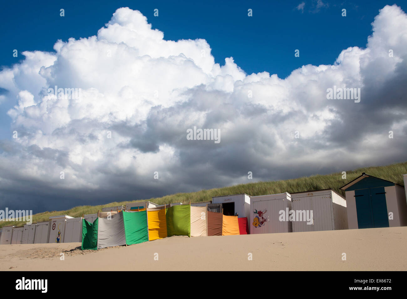 Europe, Netherlands, at the beach in Oostkapelle on the peninsula Walcheren. - Stock Image