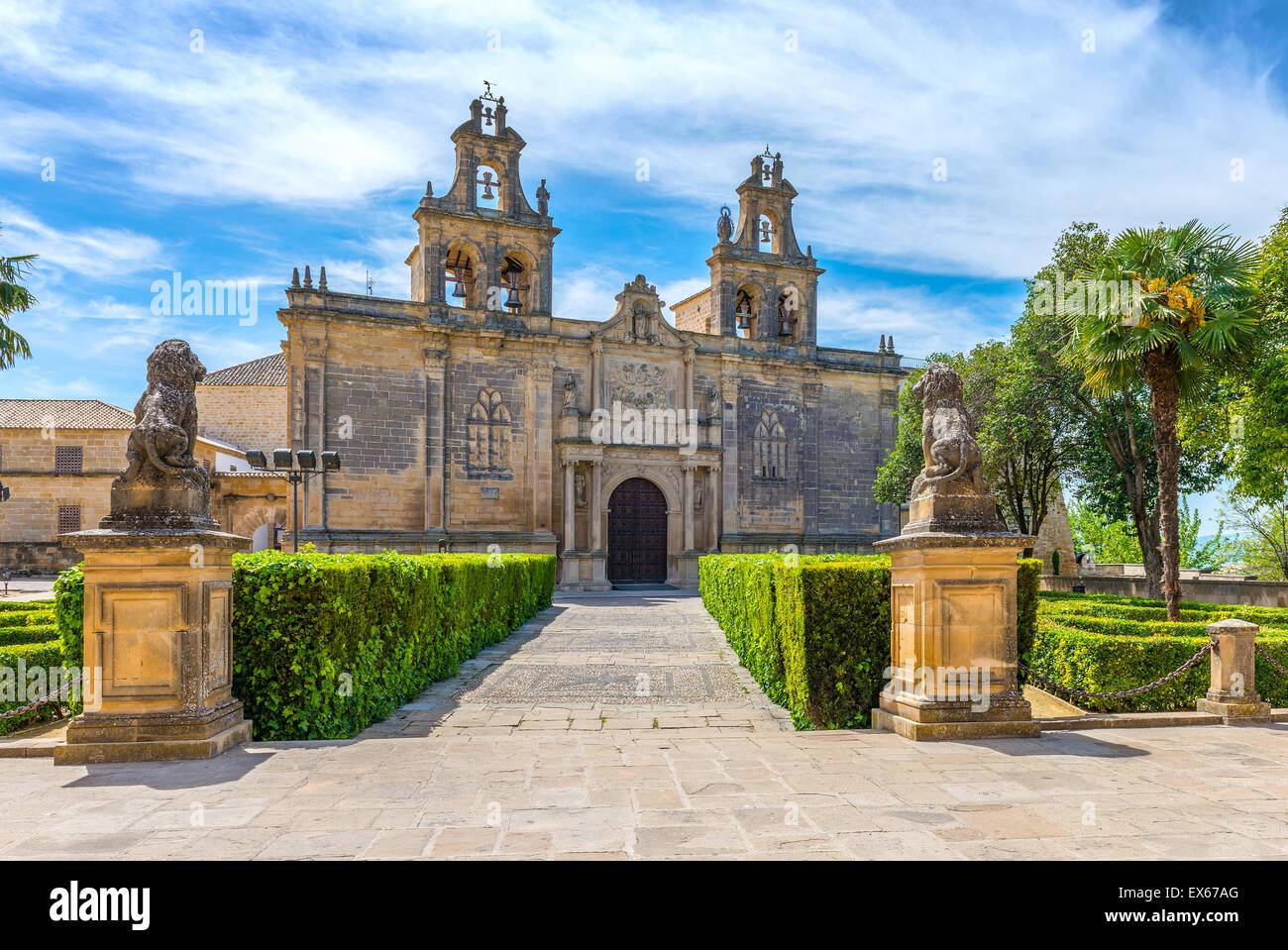 College of Santa Maria de Los Reales Alcazares de Ubeda , Jaen Province, Andalusia, Spain Stock Photo