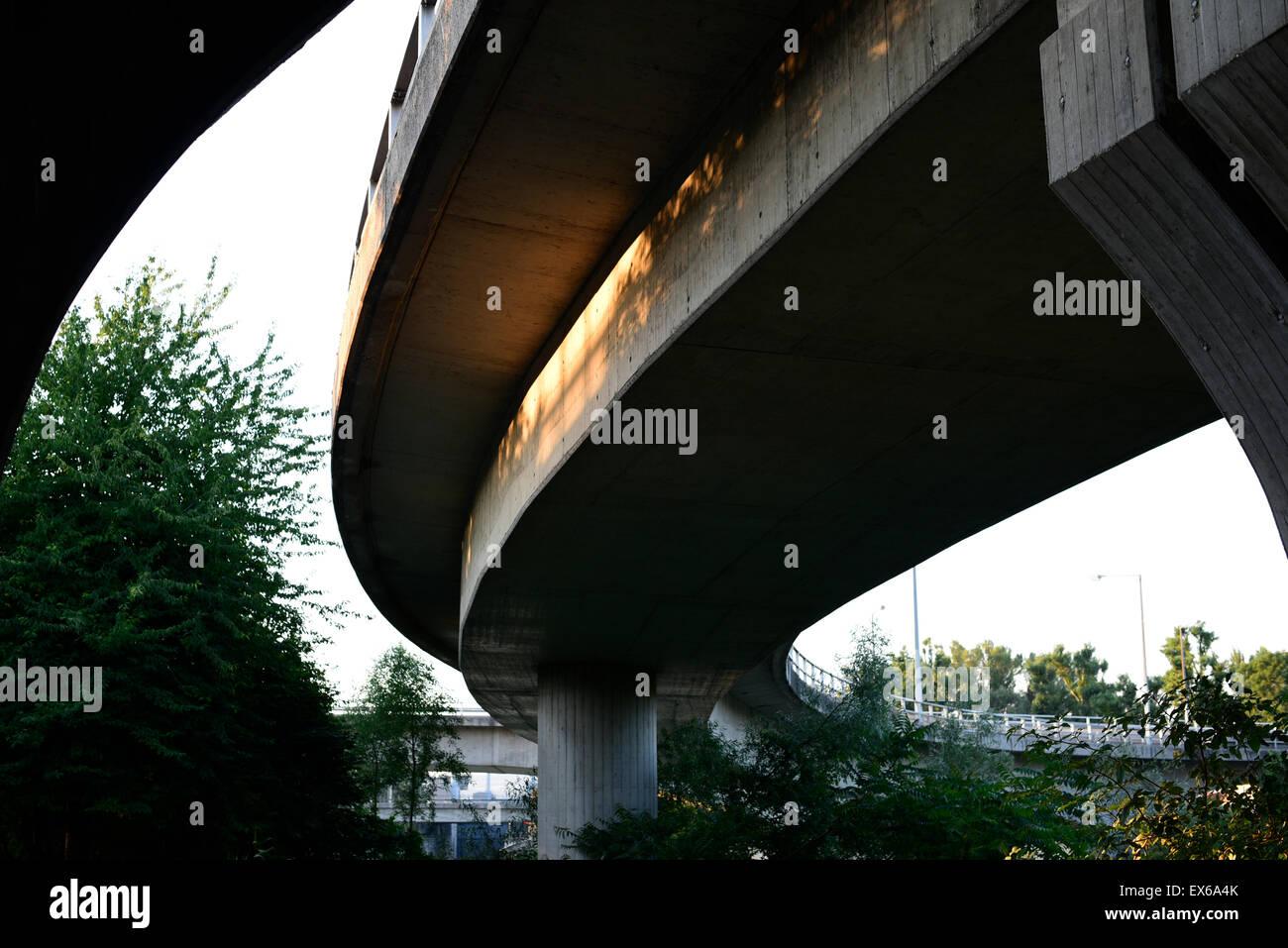 Brücken, Donaukanal, Wien, Österreich - Stock Image