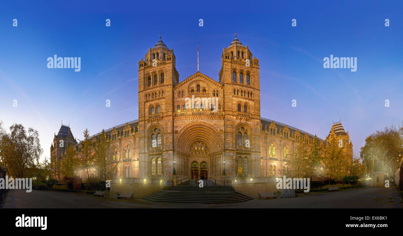Exterior view of the Natural History Museum, London - Stock Image