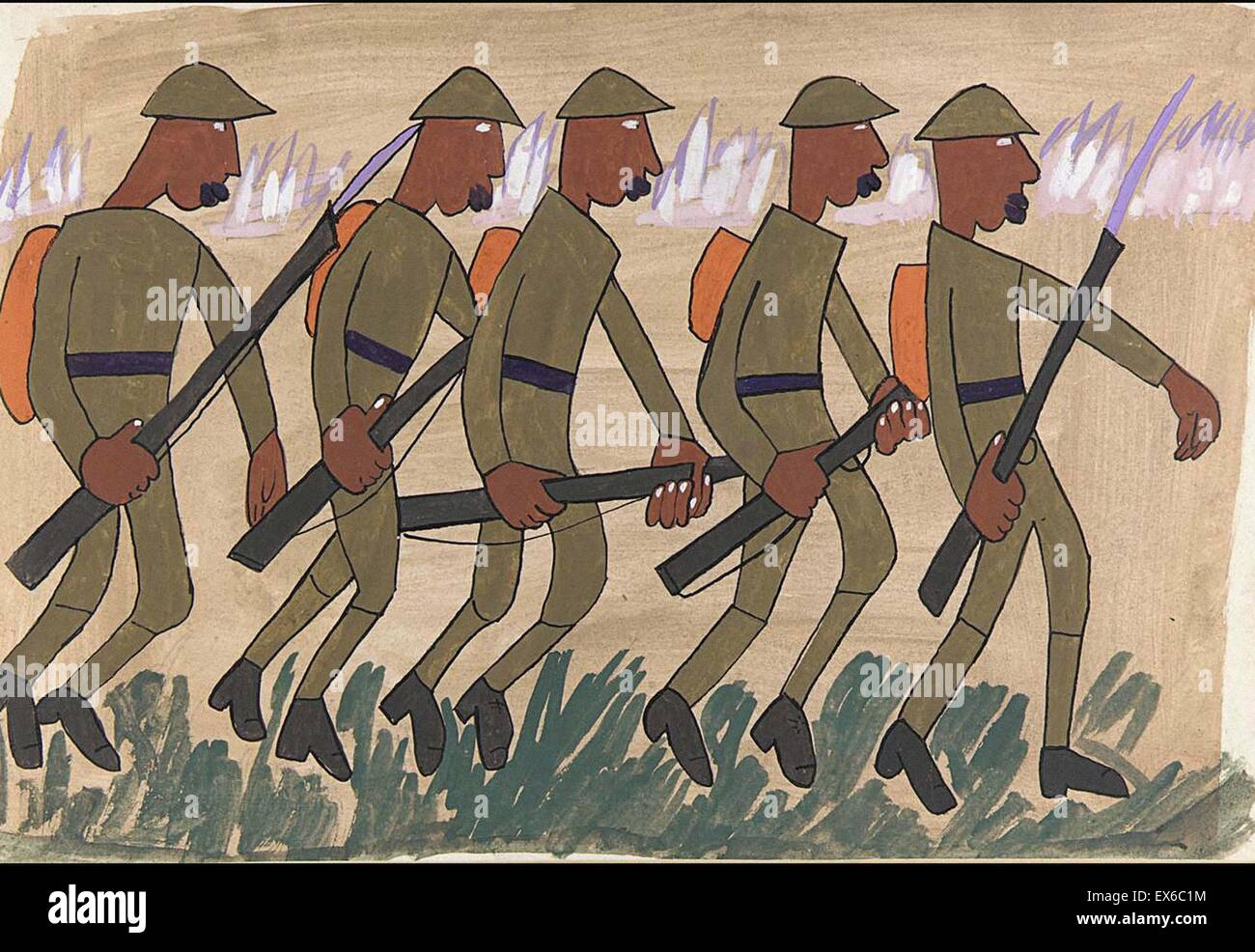 William H. Johnson  Attack - Stock Image