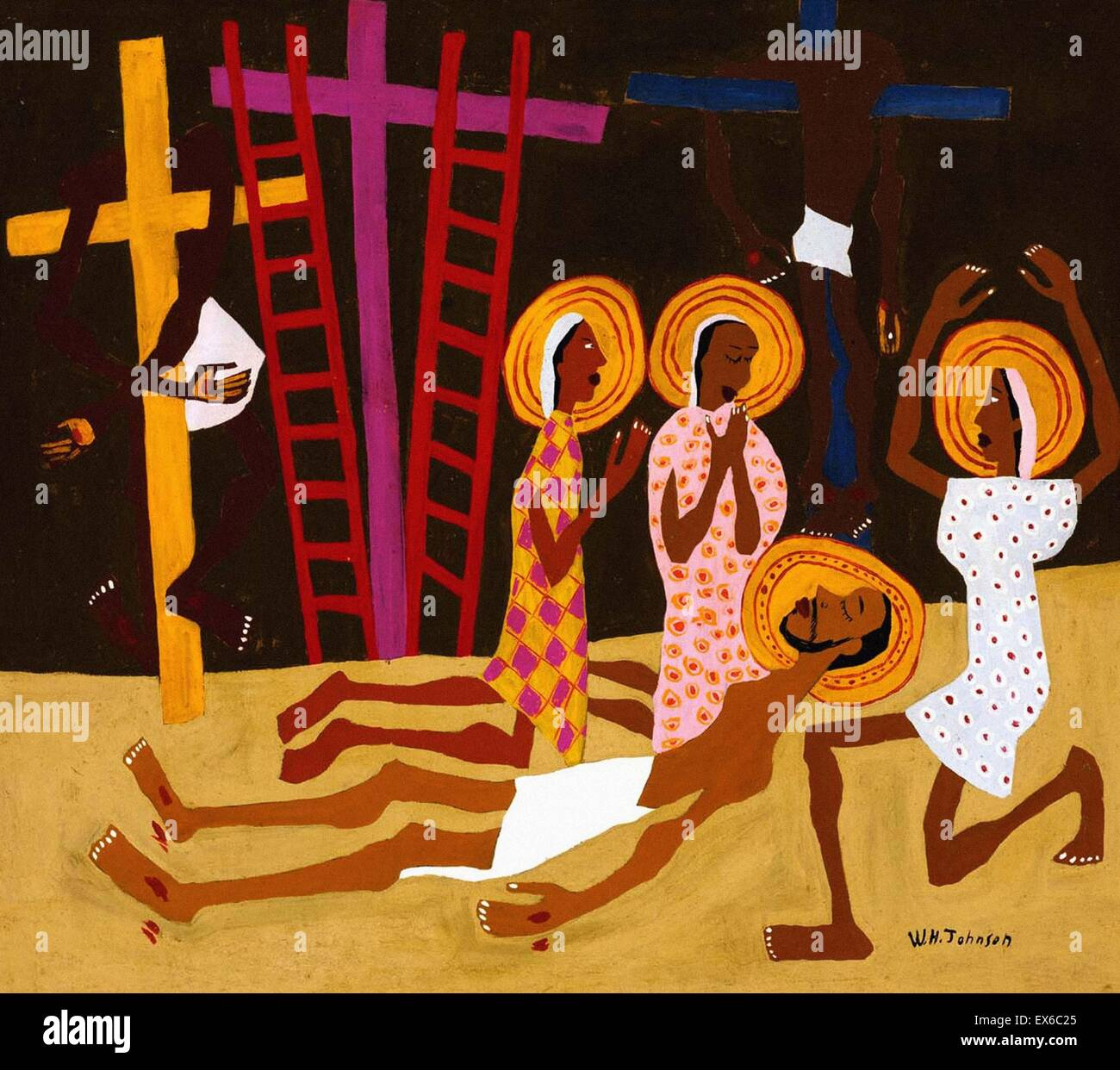 William H. Johnson  Lamentation - Stock Image