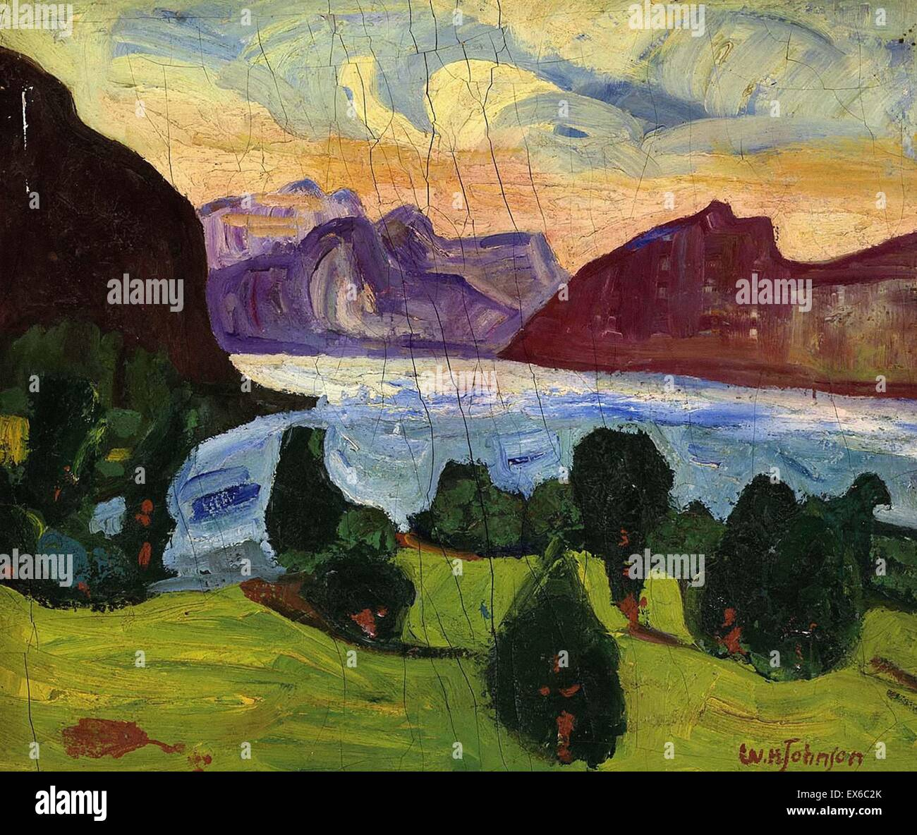 William H. Johnson  Landscape - Stock Image