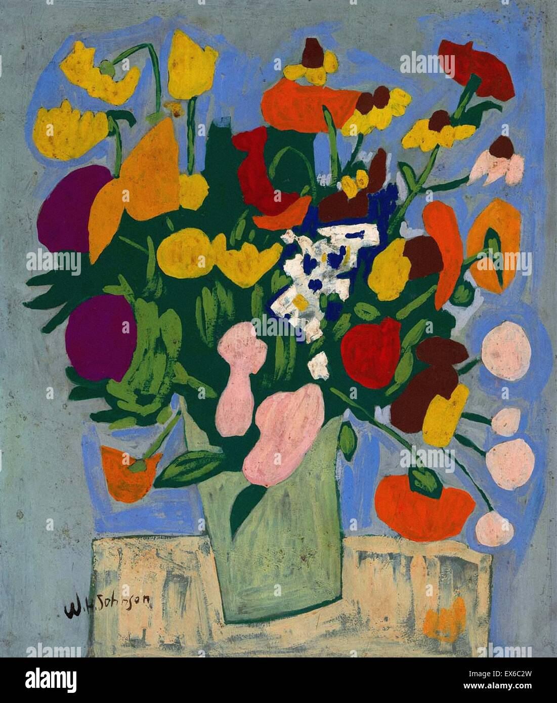 William H. Johnson  Flowers - Stock Image