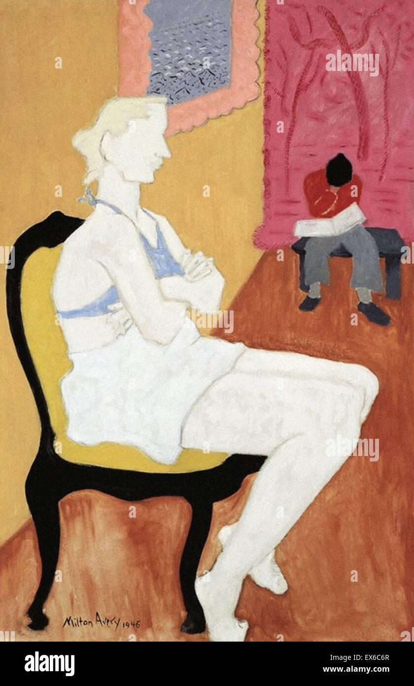 Milton Avery  Seated Blonde - Stock Image