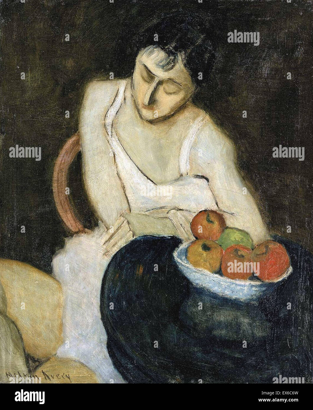 Milton Avery  Sally Avery with Still Life - Stock Image