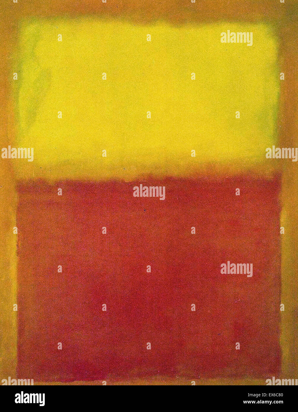 Mark Rothko  Orange and Yellow - Stock Image