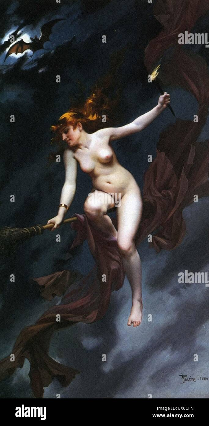 Luis Ricardo Falero  The Witches Sabbath (Muse of the Night) - Stock Image