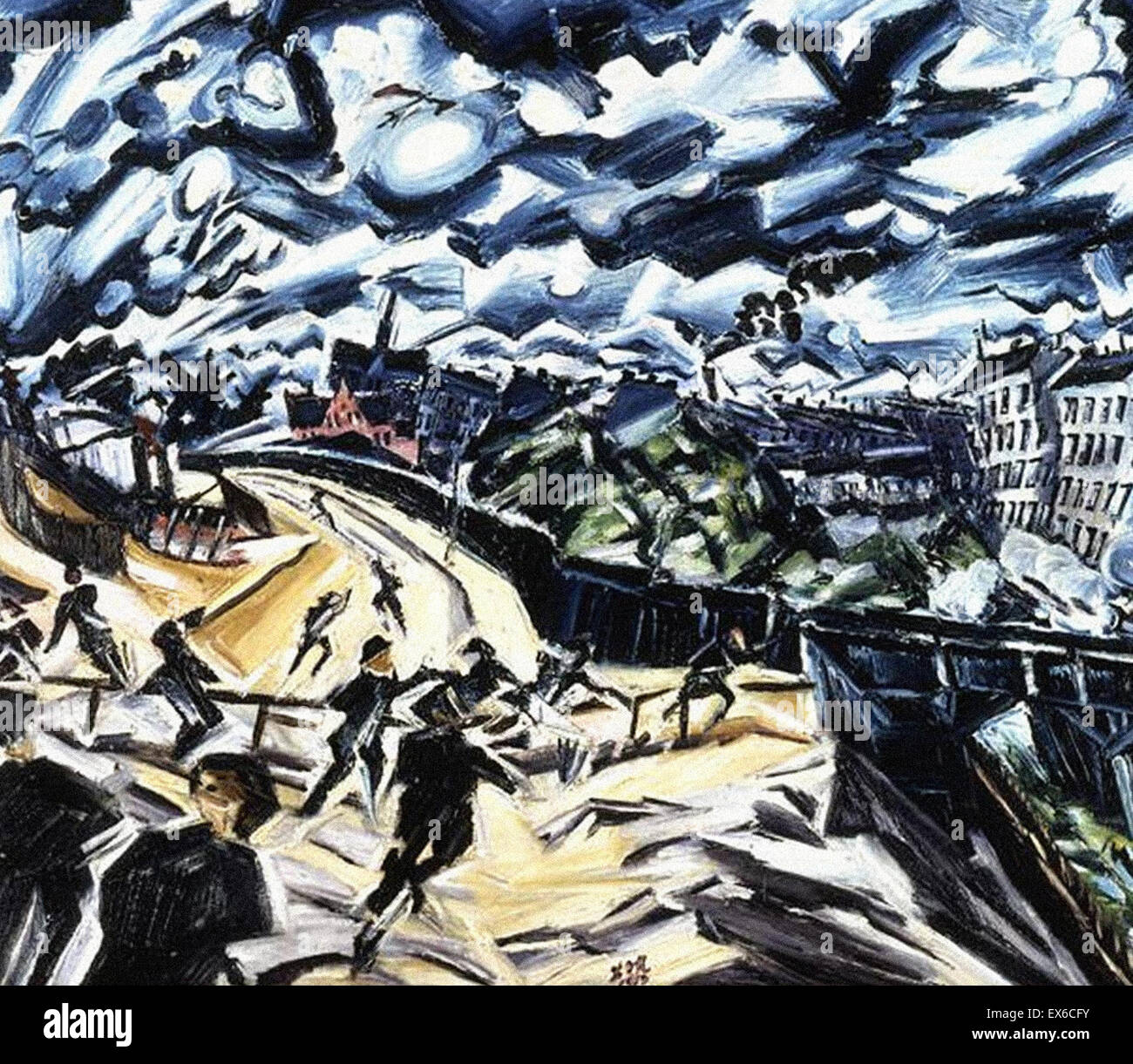 Ludwig Meidner  Apocalyptic Landscape - Stock Image