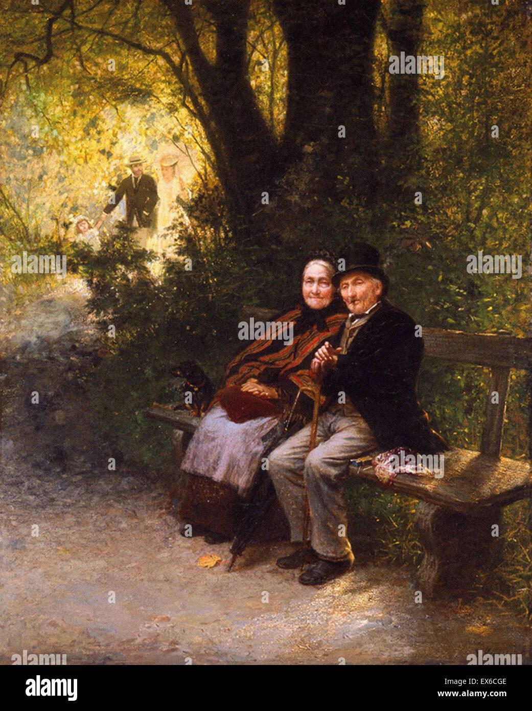Ludwig Knaus  Peaceful Life's End - Stock Image