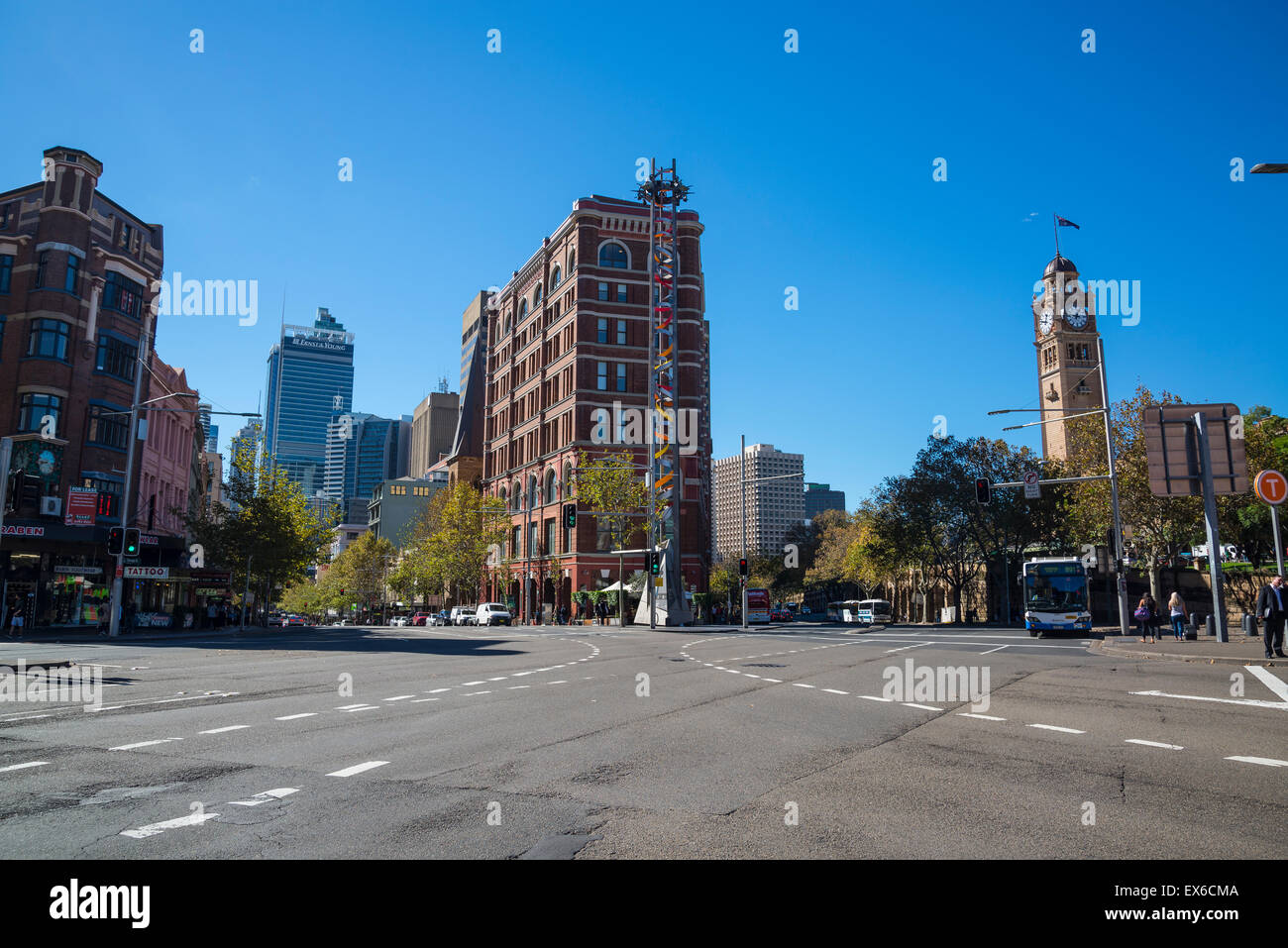 Crossroads, Central Station clock tower, Sydney, Australia - Stock Image