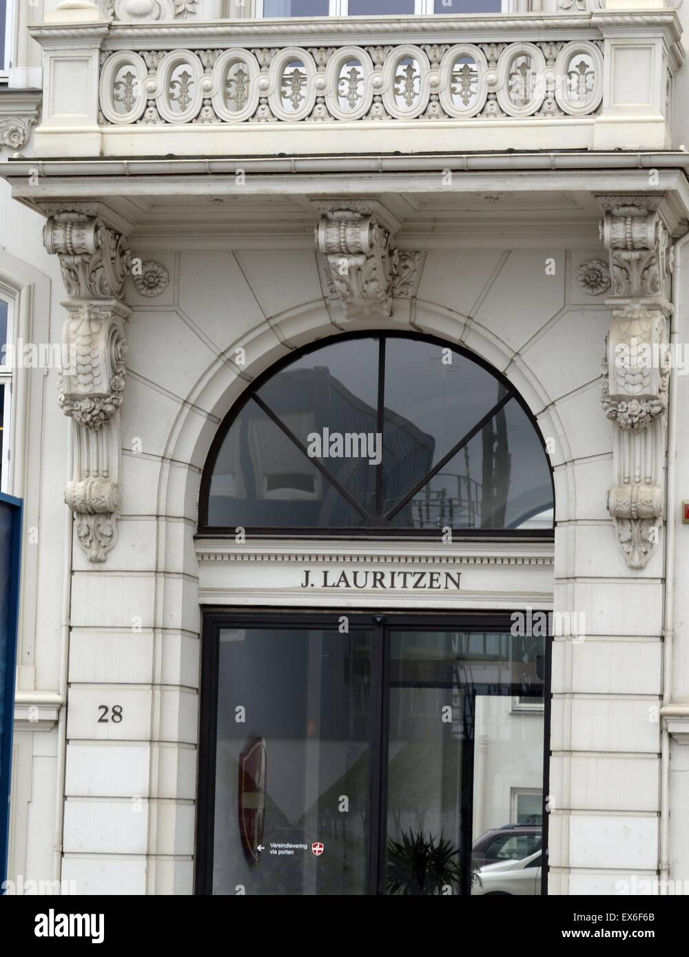 J. Lauritzen Headquarters in Copenhagen, Denmark. Established in Copenhagen since 1914, Lauritzen operates a fleet - Stock Image