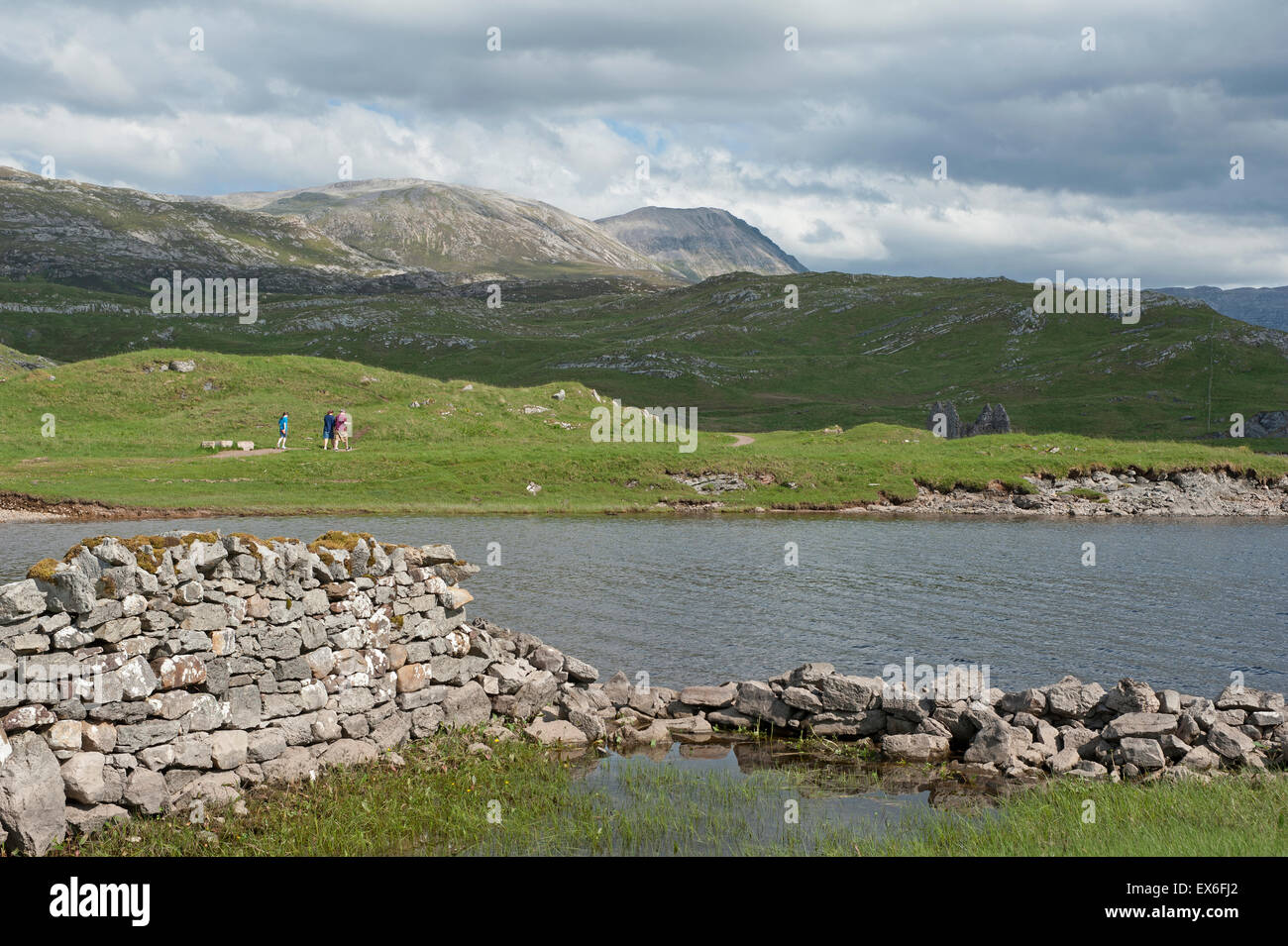 The North West Highlands Geopark was awarded UNESCO geopark status in 2004.  SCO 9918. - Stock Image