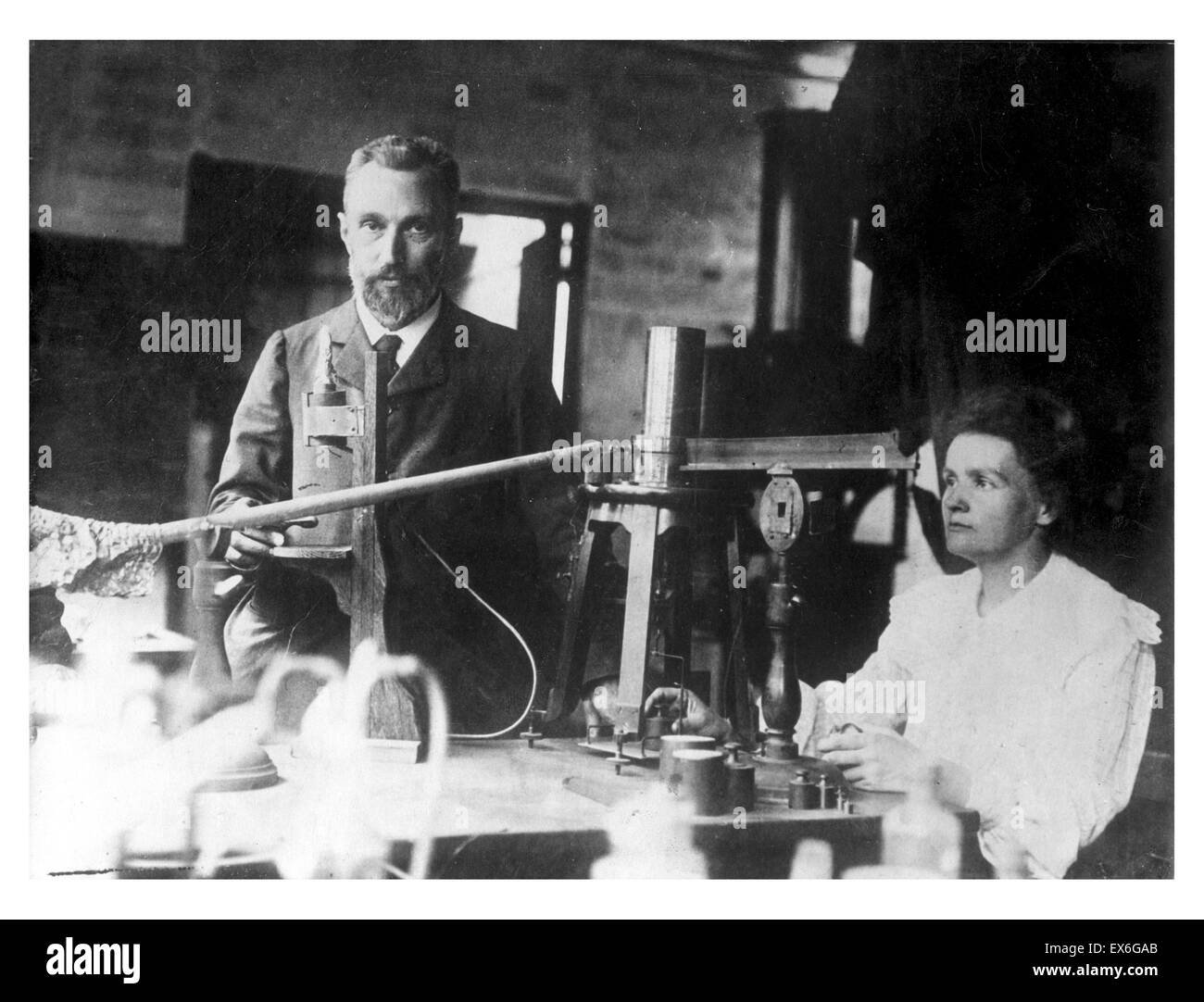 Pierre and Marie Curie1905 - Stock Image