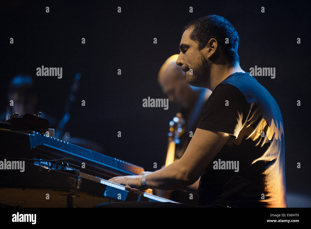MOSCOW, RUSSIA - 1 MARCH, 2014 : Live concert of DePhazz band at Glavclub - Stock Image