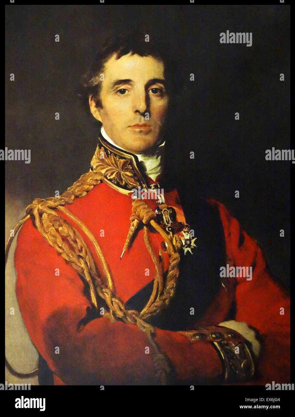 The Duke of Wellington, by Lawrence. From The Island Race, a 20th century book that covers the history of the British - Stock Image