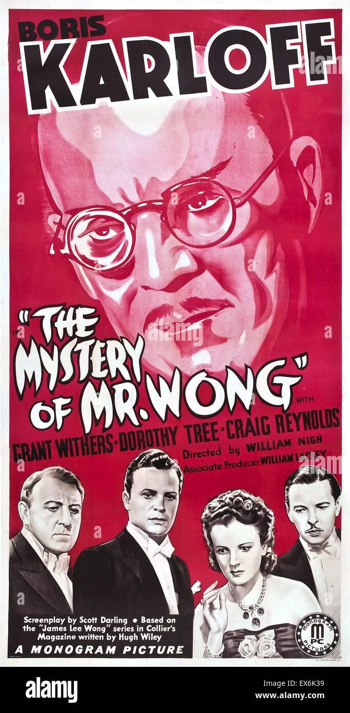 The Mystery of Mr. Wong starring Boris Karloff 1939 - Stock Image