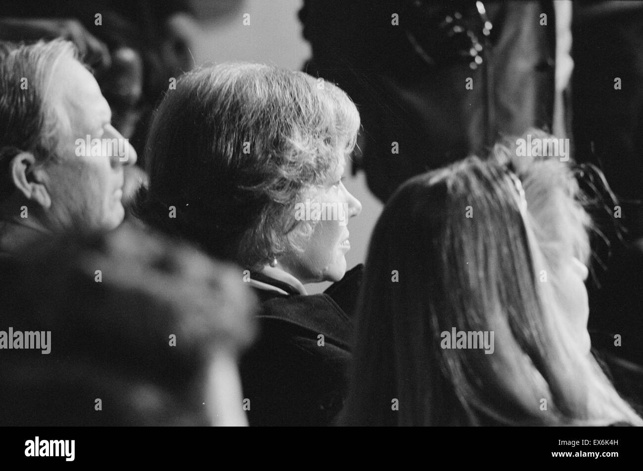 Photograph of First Lady Rosalynn Carter at President Carter's press conference. Photographed by Warren K. Leffler. Stock Photo
