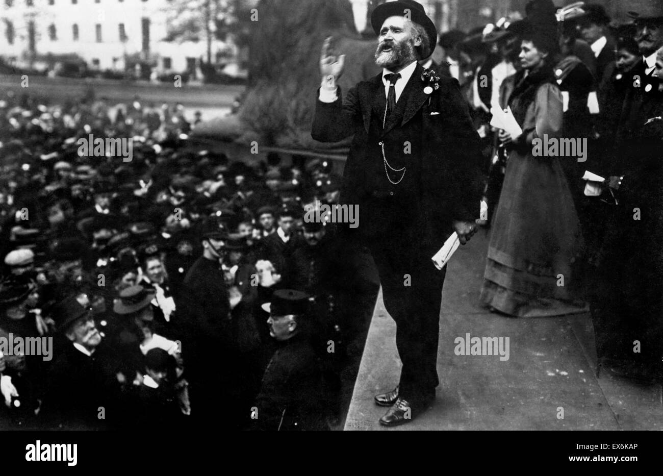 Keir Hardie at Trafalgar Square London 1908 - Stock Image