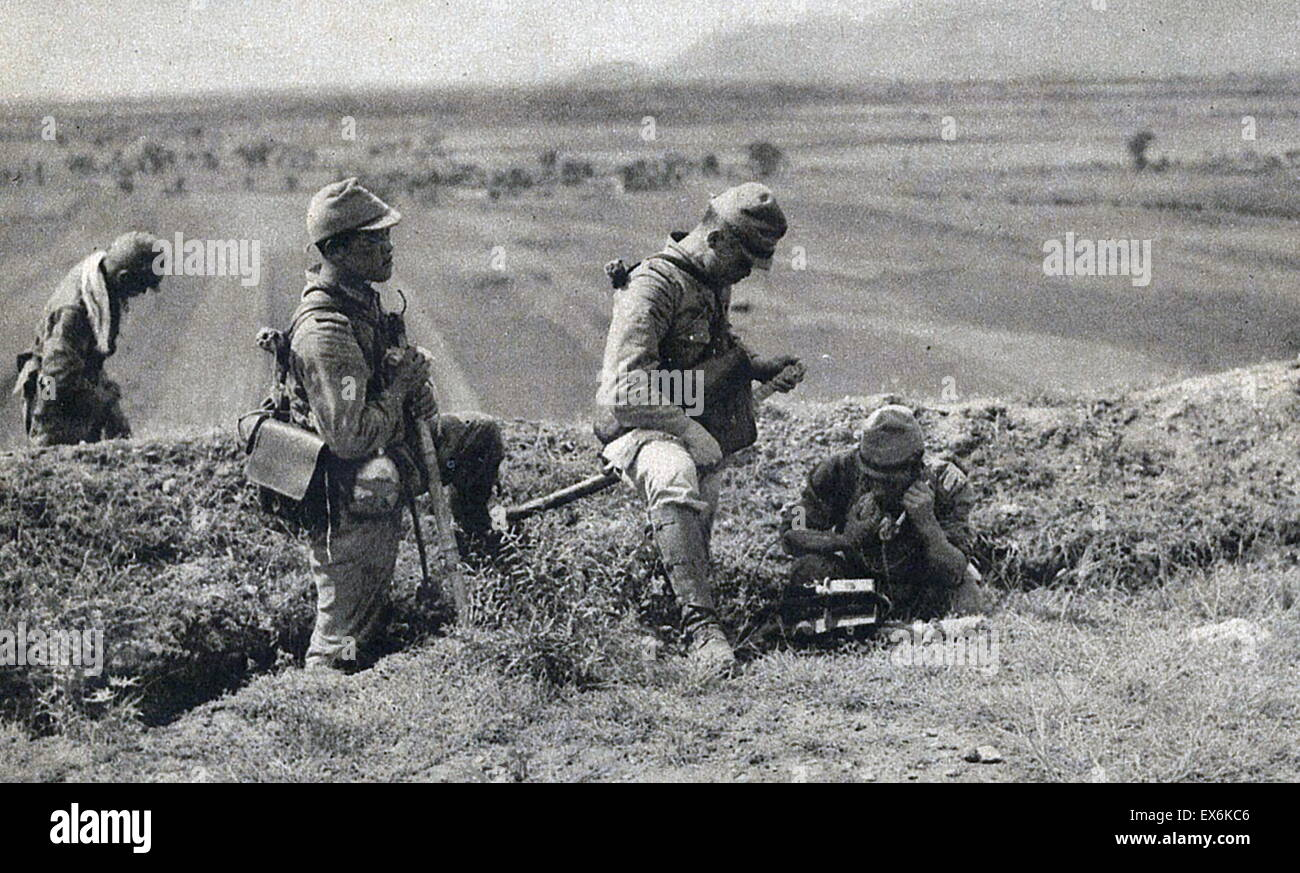 Japanese Army signals unit in China, 1937 - Stock Image
