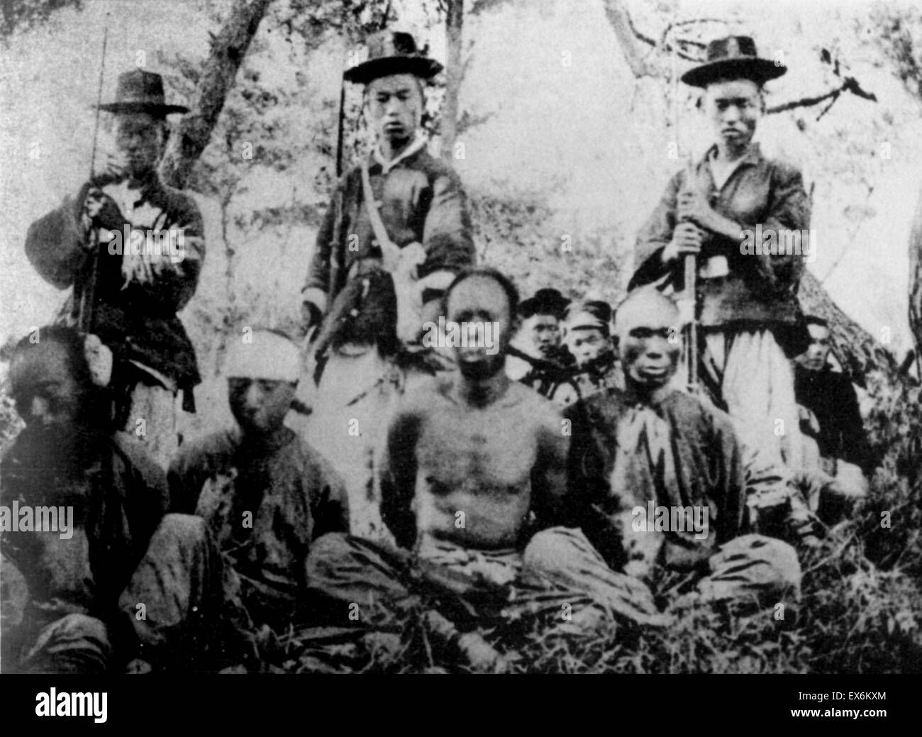 Korean soldiers and Chinese captives in First Sino-Japanese War 1894 to 1895