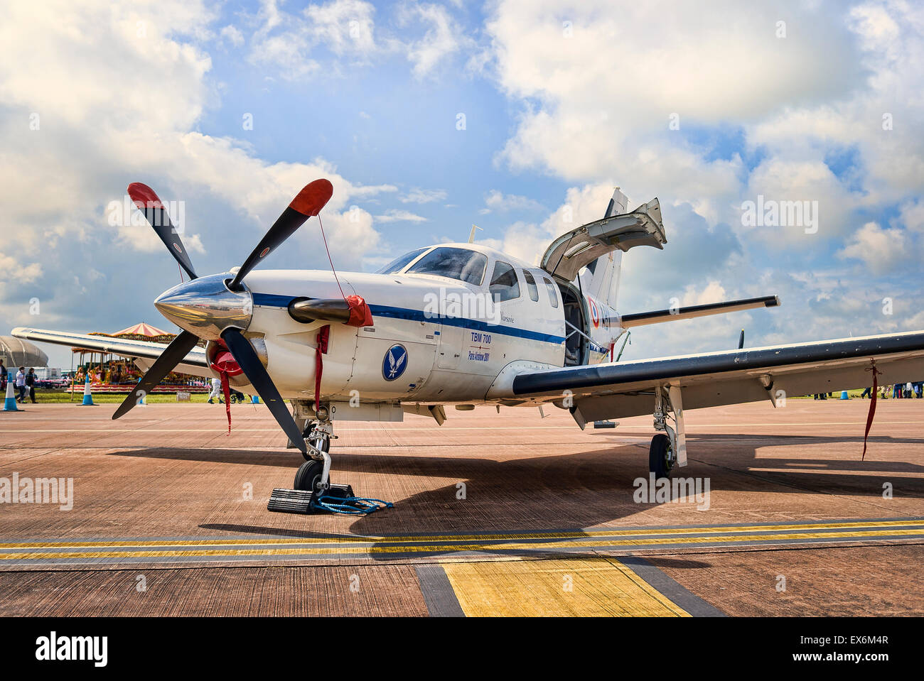 Single engine Daher-Socata aircraft - Stock Image