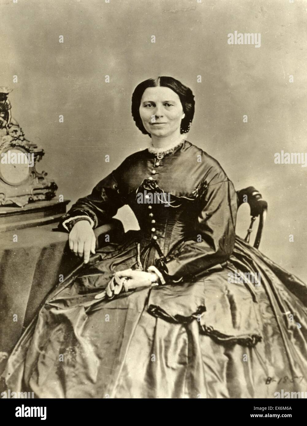Photographic print of Clara Barton (1821-1912). Dated 1869 - Stock Image
