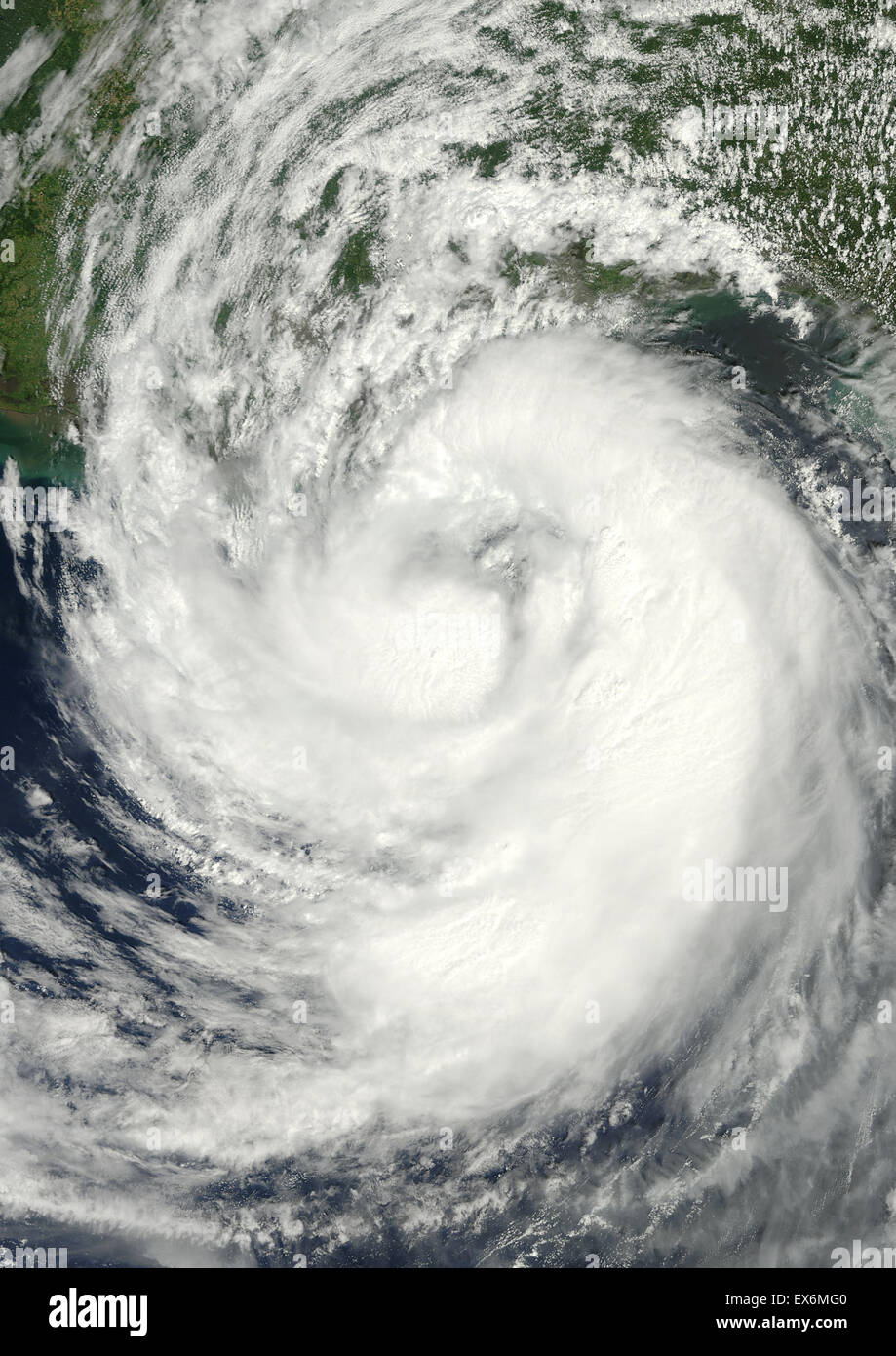 Satellite view of Hurricane Isaac over the Atlantic Ocean. Image taken on August 28, 2012. - Stock Image
