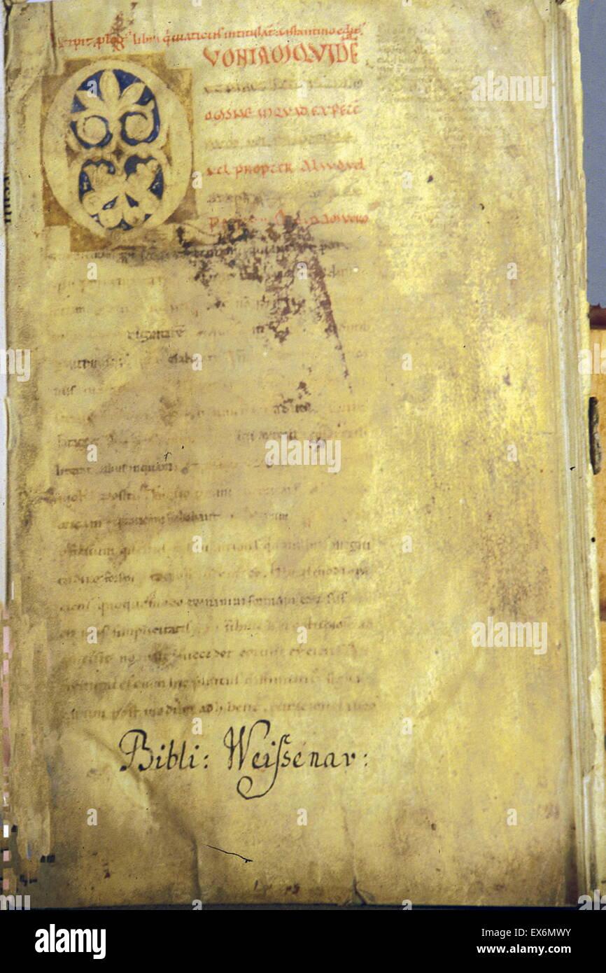 Constantinus Africanus. Viaticum 13th century - Stock Image