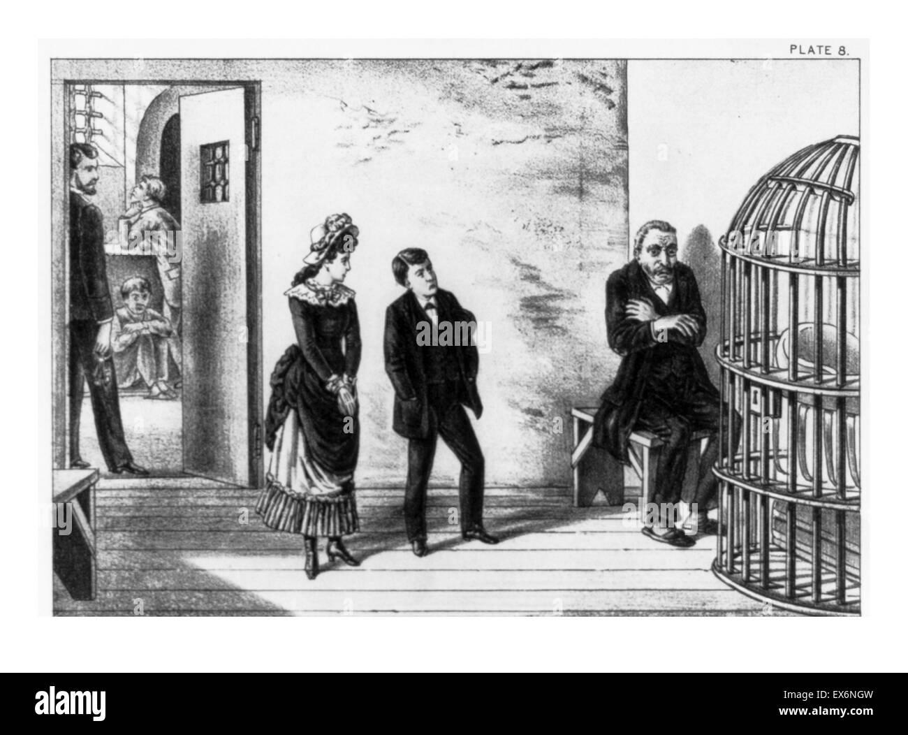 Visiting A Patient In An Assylum Circa 1890
