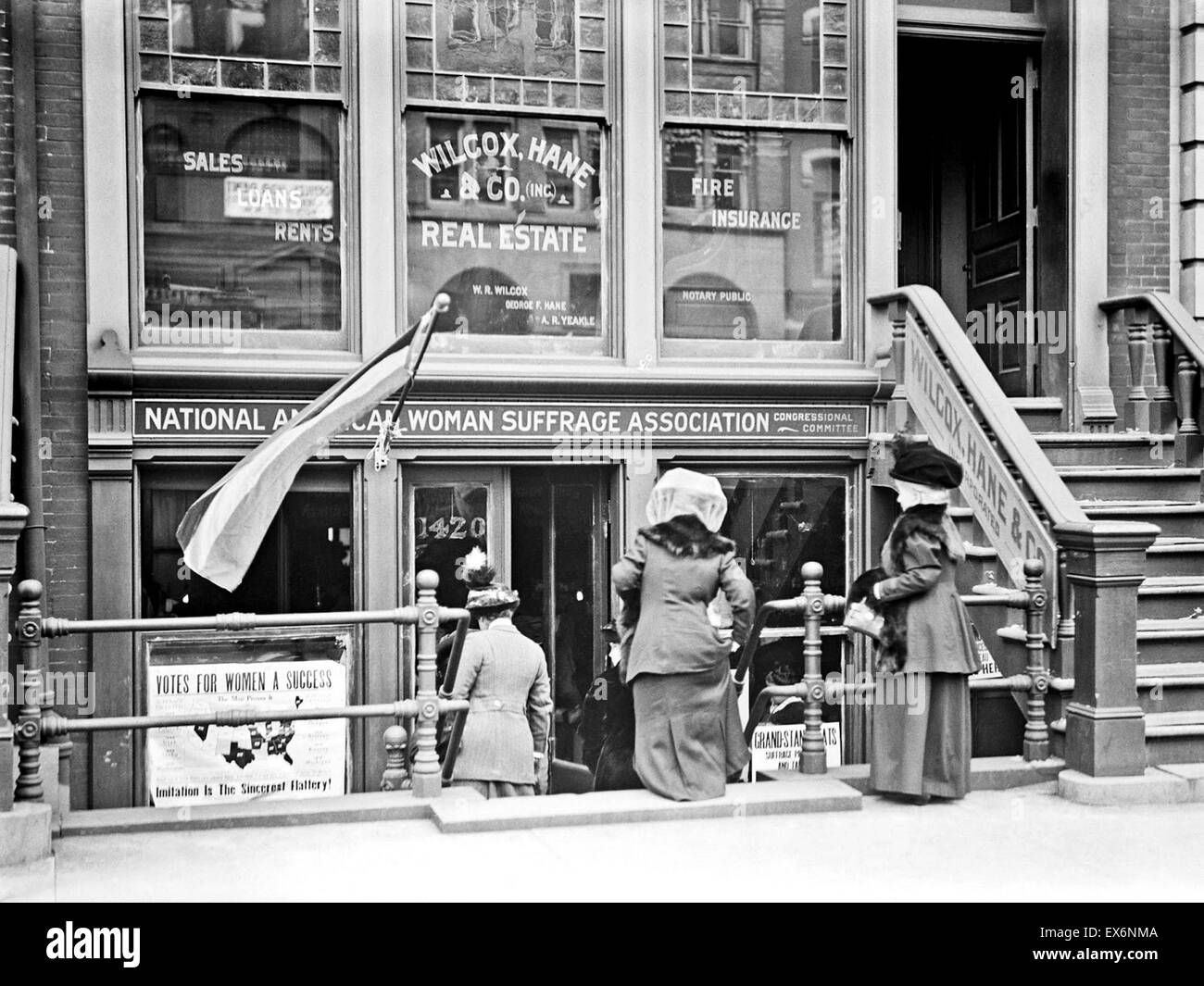 Headquarters of the American National Woman's Suffrage Organization, 1913 - Stock Image