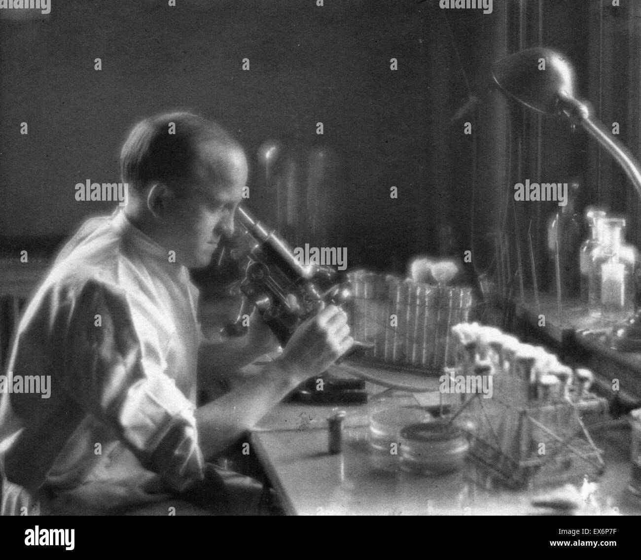 Oswald Theodore Avery (1877-1955) was a distinguished bacteriologist and research physician and one of the founders - Stock Image