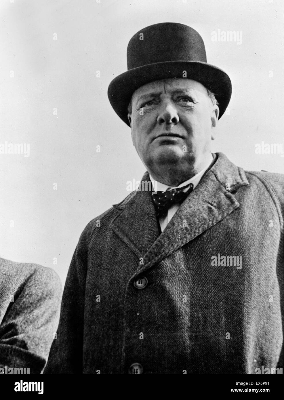 Winston Churchill as British wartime prime minister 1941 - Stock Image