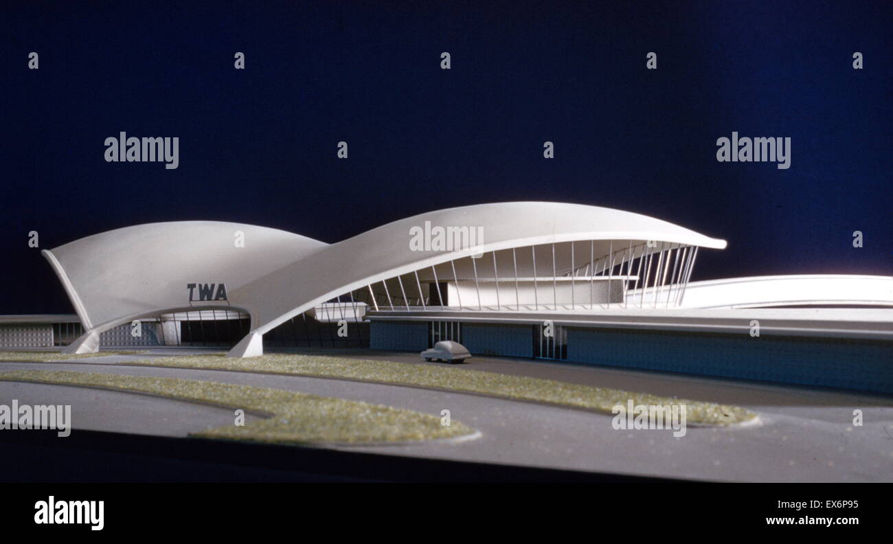 Scale model of the Trans World Airlines Terminal, John F. Kennedy (originally Idlewild) Airport, New York, New York, - Stock Image