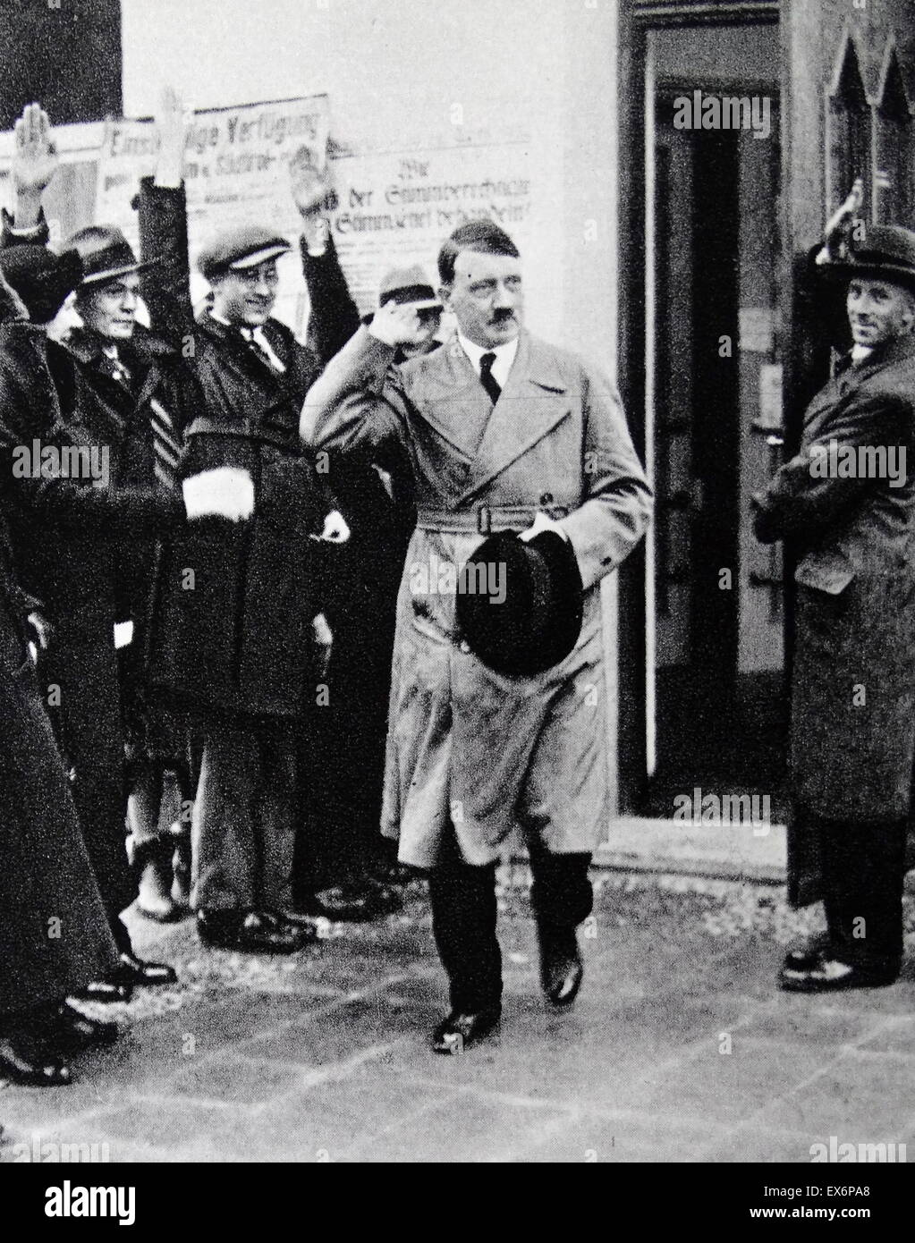 Adolf Hitler greeted by supporters, Berlin 1933 Stock Photo
