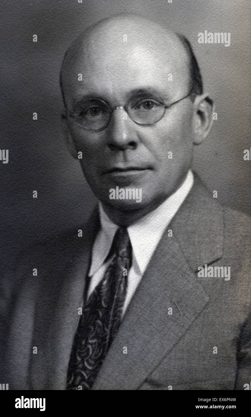 Wilbur Augustus Sawyer (1879-1951) key figure in preventive medicine and international public health during the - Stock Image
