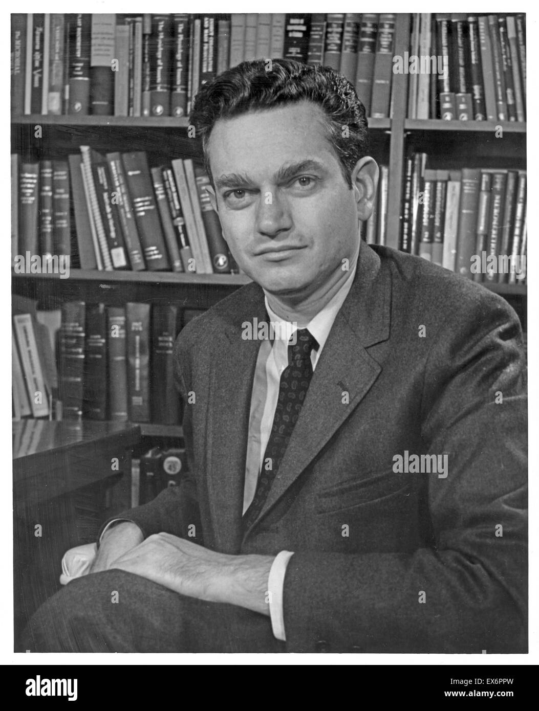 Marshall W. Nirenberg (1927-2010) was an American biochemist who shared the 1968 Nobel Prize in Physiology or Medicine - Stock Image