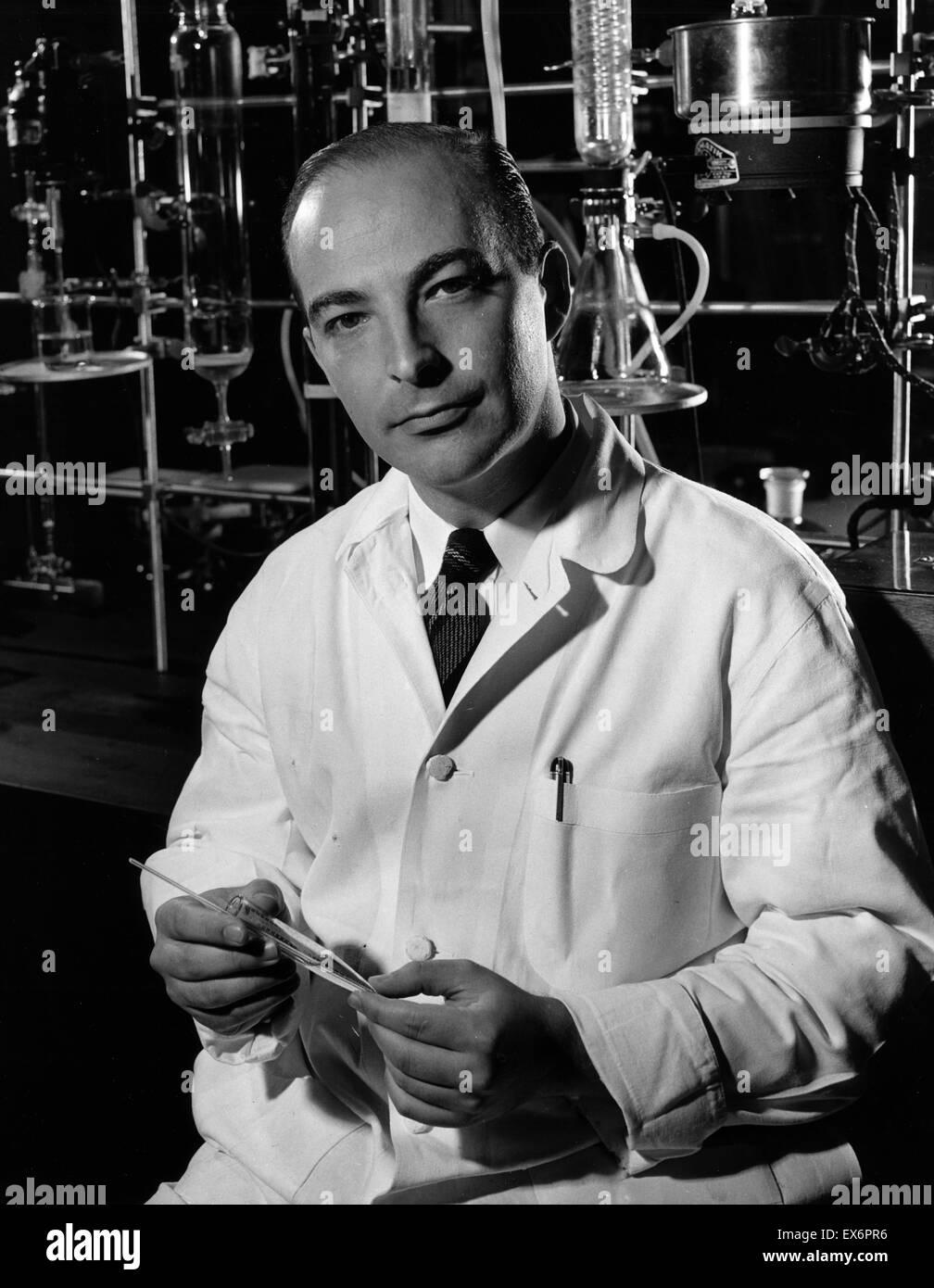 Arthur Kornberg (March 3, 1918 – October 26, 2007), American biochemist who won the Nobel Prize in Physiology or - Stock Image