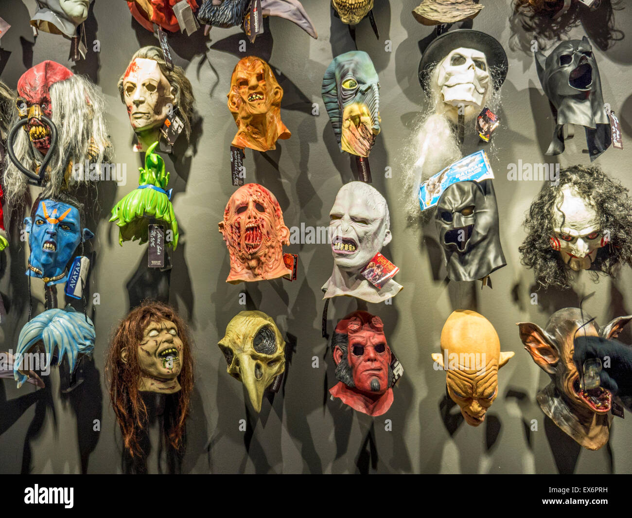 berlin maskworld mask wall in store selling masks fancy dress outfits masquerade costumes and theatrical accessories