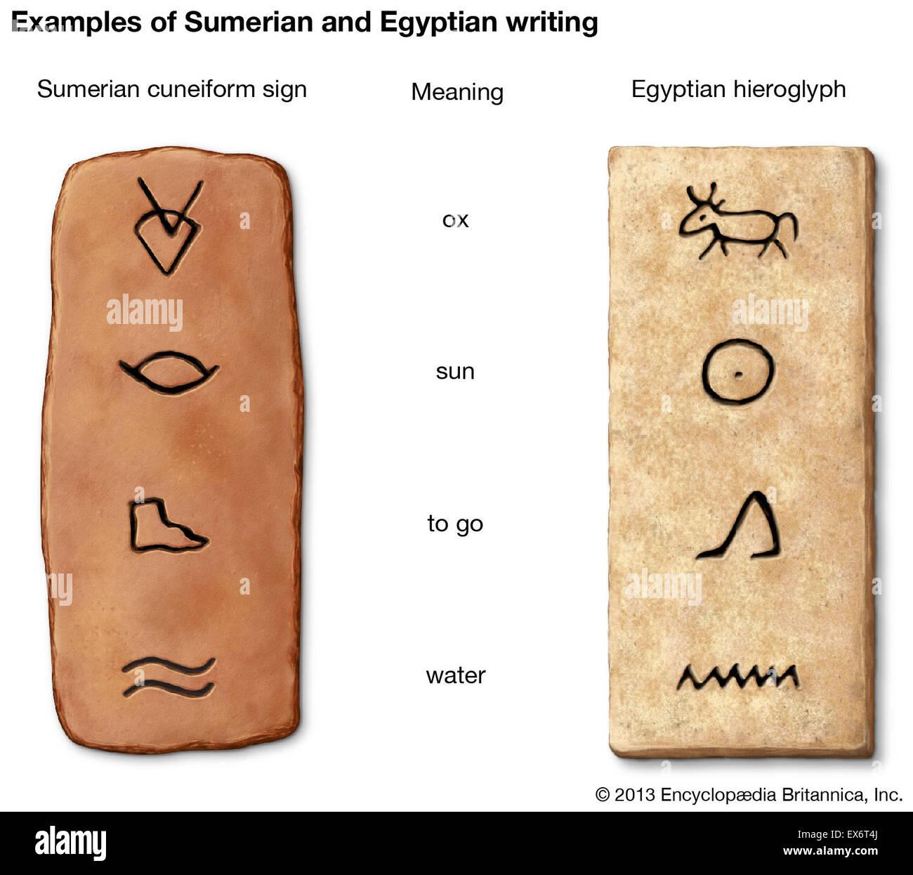 Sumerian Cuneiform Writing Stock Photos Sumerian Cuneiform Writing