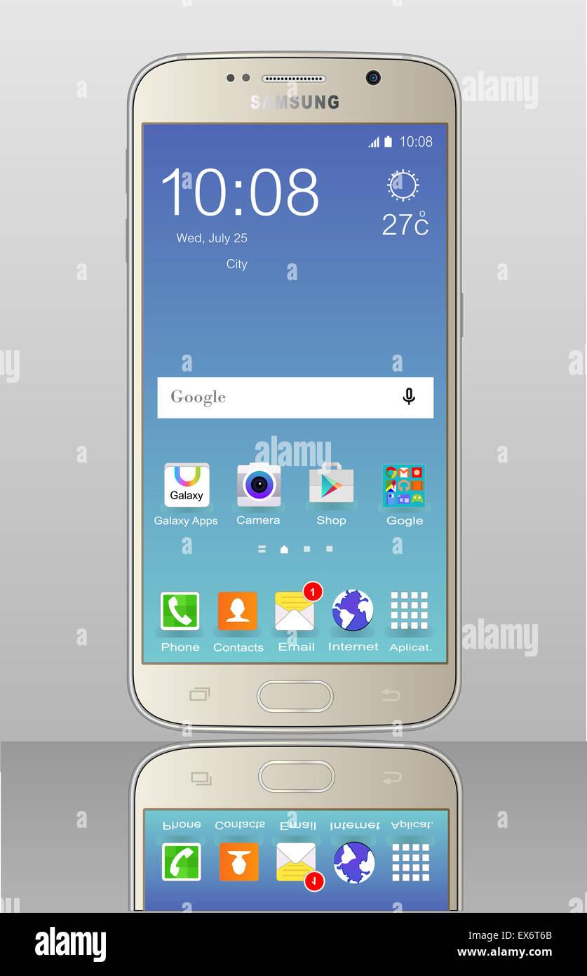 Samsung galaxy s6 - Stock Image