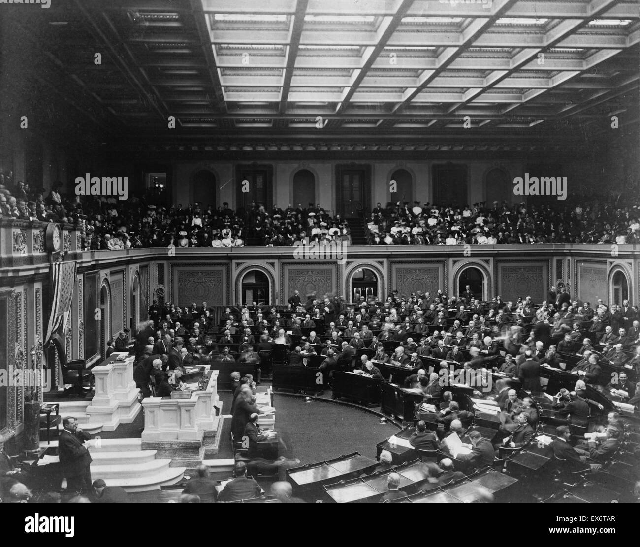 Photographic print of the opening ceremonies of the U.S. 59th Congress. Photographed by Frances Benjamin Johnston - Stock Image