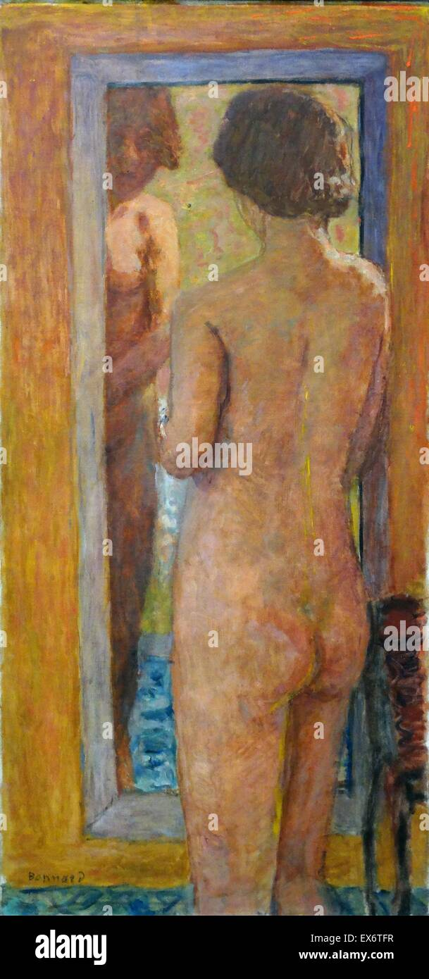 Femme à sa toilette by Pierre Bonnard (1867-1947). Oil on canvas, 1934. Bonnard was a French painter and printmaker - Stock Image
